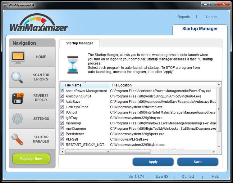 Screenshots - WinMaximizer